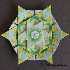 Iimori Astra E (Day 36) (Yureiko) Tags: yureiko tessellation papierfalten papier origami paperfolding paper