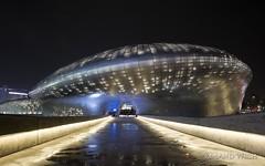 Seoul - Dongdaemun Design Plaza (Rolandito.) Tags: asia south korea seoul design plaza night nacht light lights rain reflection regen dongdaemun