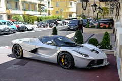 Ferrari LaFerrari (SupercarLust) Tags: ferrarilaferrari silver monaco montecarlo grandprixweekend hypercar supercar hôtelhermitagemontecarlo