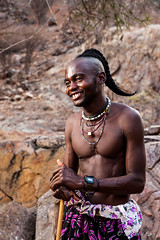 Unmarried Himba Man 4032 (Ursula in Aus) Tags: africa namibia offcameraflash himba portrait male