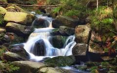 Oberer Bodefall Herbst (AndyW Harz) Tags: harz deutschland germany wald forest wasser water langzeitbelichtung wandern hiking