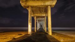 Scripps Pier at night (dougsooley) Tags: scripps scrippspier lajolla sandiego california canon canon1dx canonlenses cali canonlens d landscapes longexposure