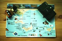 film (La fille renne) Tags: film analog 35mm lafillerenne canonae1program 50mmf18 expired expiredfilm kodak kodakelitechromeextracolour100 xpro crossprocessing travel map camera lomolca rolls porquerolles