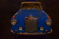 Love is Blue (oybay) Tags: mercedesbenz mercedes benz car automobile barrettjackson scottsdale arizona az carshow lighting golden silver carface expensive vehicle lines indoor 190 blue bleu