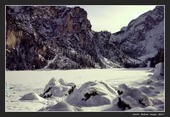 Lago di Braies - 1 (cienne45) Tags: braies lago lagodibraies lake braieslake dolomiti dolomites ice snow neve ghiaccio carlonatale cienne45 natale