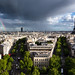 Paris beetween two rains, from the Arc de Triomphe
