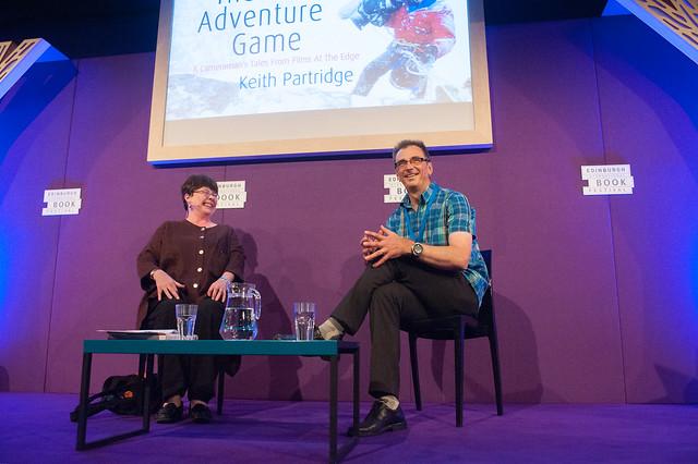 Keith Partridge chats to Chair Sheena McDonald