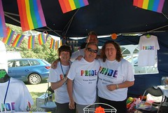 """Pride in Plymouth stall team ready for a busy day at Plymouth Pride 2015-1 - Plymouth Hoe • <a style=""""font-size:0.8em;"""" href=""""http://www.flickr.com/photos/66700933@N06/20630462905/"""" target=""""_blank"""">View on Flickr</a>"""
