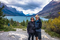 Stopping for photos in Glacier Nat'l Park!