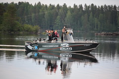 trolling boat (Rock and Lake) Tags: fishingboat pikefishing rockandlake fishinginfinland fishinginlakeland fishingguidefinland midnightsunfishing