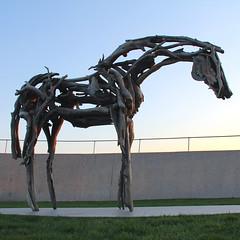 Juno (hansn (2+ Million Views)) Tags: sculpture horse usa bronze square iowa sculptor juno desmoines sculpturepark deborahbutterfield squarish pappajohn