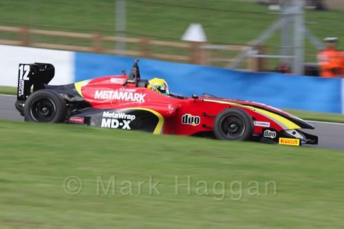 Chris Dittmann Racing's Tom Jackson in BRDC F4 race 3 at Donington Park, September 2015