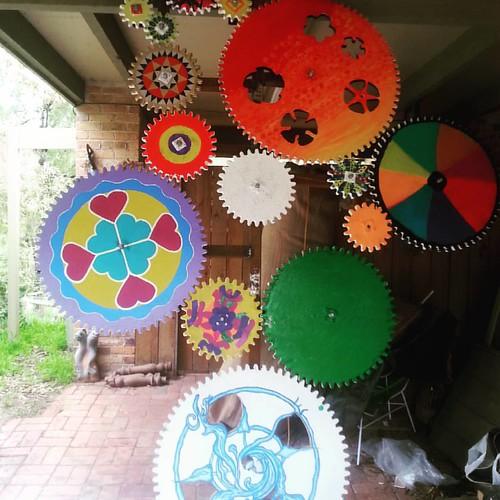 Making progress.  #LachlanPlain #hawthorncommunityhouse #CROPartBoroondara #kineticsculpture #communityart
