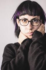 Purple (alba.rochina) Tags: portrait selfportrait hair photography fantasyhair albarochina albarochinaphotography