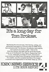 Tom Brokaw, KNBC-TV, 1968 (STUDIOZ7) Tags: california ca news television nbc la losangeles tv 60s media anchor local 1960s sixties tombrokaw channel4 newscaster knbc rossporter gordonweir