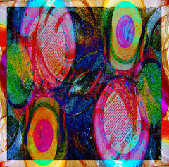 Tops and Bottoms (virtually_supine popping in and out) Tags: abstract texture collage photomanipulation bright circles montage layers colourful lids containers bottletops digitalartwork photoshopelements9 sotnoctoberchallengecirclesdots grainydots