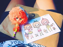 You are my Sunshine,  my little Sunshine...  You'll make me happy  when skies are gray    #love #yarnhead #customblythe #blythe #doll # # ##  (TOETY LIANG) Tags: love doll blythe    customblythe  yarnhead