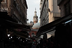 eminönü'nün arka sokakları (betuleka) Tags: city light shadow dark lights darkness istanbul mosque rainy