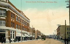 Osborne Street, Fort Rouge, Winnipeg, Man H (arbutushilldesign) Tags: winnipeg postcard fortrouge osbornestreet