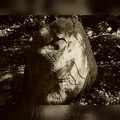 With Love... (broombesoom) Tags: trees art stone kunst unter under memory stein bumen