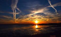 Sunset (Mariannevanderwesten) Tags: nature water zonsondergang nikon natuur wolken zeeland lucht anawesomeshot