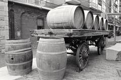 Barrels (paulgumbinger) Tags: toronto nikon barrels f3 cart distillery