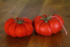 Heirloom Tomato Ornaments (peonyandbee) Tags: christmas holiday forest woodland natural handmade ornaments recycle whimsical upcycle peonyandbee kateeggleston