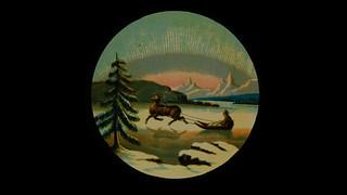 Frozen North- Vintage magic lantern slide