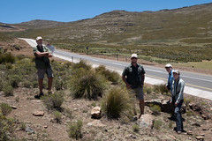 Bruce, Garreth, Howard, Anne, and a fine new Chinese-built Road in Lesotho