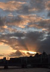 Sunburst Sunset (amanda.parker377) Tags: sunset england london cloudformation viewfromwaterloobridge