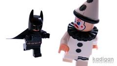 Batman in Cumbria (Kadigan Photography) Tags: lego minifigure batman clown cumbria uk