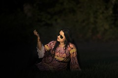 Shree (kaustavmukherjee) Tags: portrait nature light bangles woman sunset presque isle beautiful serene alone