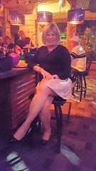 Dark Dunes Bar (krislagreen) Tags: tg tgirl transgender transvestite cd crossdress skirt pumps patent hose legs femme feminized feminization