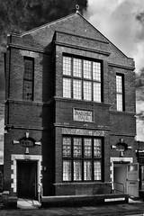 Masonic Hall (belly.1964) Tags: nikond7200 sigma1850f28 filey eastcoast building architecture bw monochrome mono sky brick windows rutlandroad