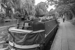 Regent's Canal 5 (stevefge) Tags: london regentscanal candid boats blackandwhite bw monochrome towpath people reflectyourworld