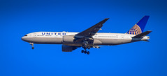 United Airlines Boeing 777 approaching Dulles Washington (IAD) Airport Chantilly VA (mbell1975) Tags: chantilly virginia unitedstates us united airlines boeing 777 approaching dulles washington iad airport va washingtondulless plane jet airline airliner ua