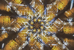 Rotating the Albert Docks (neil rushby photography) Tags: liverpool lights beatles john lennon albert docks camera rotation nightscape cityscape liver building exposed abstract kaleidoscope spin