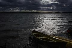 DSC_6708 (vargandras) Tags: lake storm water light dark cloud boat reflection scenery lakeshore tampere pyhjrvi suomi finland