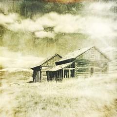 no more guest (jssteak) Tags: canon t1i square vintage logcabin colorado mountain buildingblackandwhite