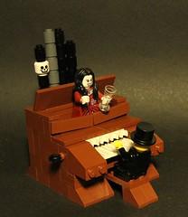 Play it again, Sam! (askansbricks) Tags: lego haunted house mansion disney monster halloween moc legomoc piano organ horror scary