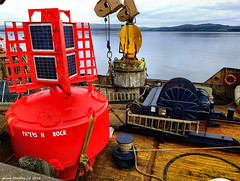 Scotland Greenock North Atlantic navigation buoys on repair ship Pole Star 20 October 2016 by Anne MacKay (Anne MacKay images of interest & wonder) Tags: scotland greenock north atlantic navigation buoy repair ship pole star xs1 20 october 2016 picture by anne mackay