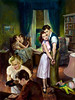 Baby Sitter, paperback cover by Raymond Pease, 1952 (Tom Simpson) Tags: raymondpease pulp pulpart illustration vintageart painting 1952 1950s paperback woman girl babysitter