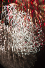 Firework reflection (Canon John's 7D (Wow! 3,000,000+ views, Thanks)) Tags: pier fireworks christmas