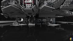 LEGO® Docking Bay 327 VR (Renderbricks) Tags: lego tlg thelegogroup billund legotechnic mecabricks renderbricks modo blender filmicblender cycles 3danimation animation rendering plastic toys minifig minifigure sheepit ldd ldraw vr virtualreality panorama cardboard millennium falcon starwars docking bay space
