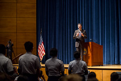 FBI Director Talks to Corps of Cadets (US Coast Guard Academy) Tags: corpsofcadets uscoastguardacademy newlondon connecticut cadets officers academy brahm pettyofficerrichardbrahm rearadmjamesrendon fbi jamescomey admiralloy leadershiplectureseries usa