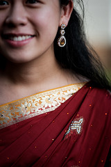 DSCF9379 (tzeyangtan) Tags: deepavali indian traditional red gold details smiles