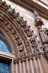 Basel-2016_10 (rhomboederrippel) Tags: rhomboederrippel 2016 fujifilm xe1 switzerland basel citycentre citycenter historic church minster baslermnster maingate sundial clock gothic red sandstone
