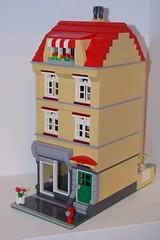 modular old house 3 (salvobrick) Tags: lego modular moc old house city shop