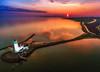 Sunset Lighthouse III (Explored 29-10-2016) (mcalma68) Tags: marken lighthouse sunset seascape