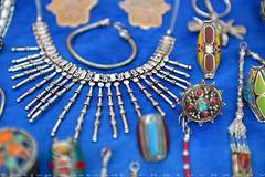 Chefchaouen medina gifts (T Ξ Ξ J Ξ) Tags: morocco chefchaouen sefasawan d750 nikkor teeje nikon2470mmf28 blue city square silver jewelry handicraft